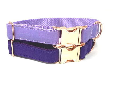 Lux Dog Collar, Purple, Lilac, Lavender, Rose Gold, For Girls, Personalized, Engraved, Custom, Puppy Collar, Cat Collar, Pet