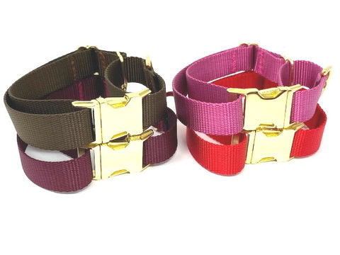 Martingale Dog Collar With Buckle, Red, Brown, Burgundy, Raspberry, Rose, Gold, Girls, Boys, Personalized, Engraved, Greyhound, Choker