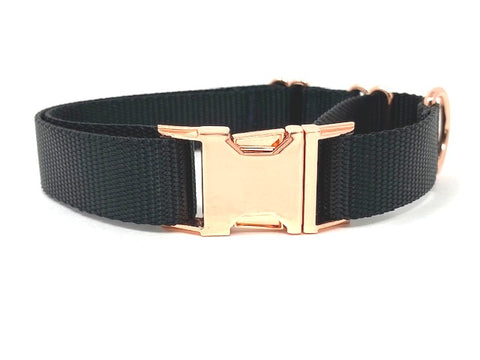 Black, Rose Gold, Martingale With Metal Buckle, For Girls, Female, Boys, Male, Personalized, Engraved, Boutique, Choker Collar, Greyhound