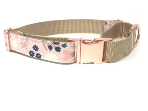 martingale dog collar, with rose gold metal buckle, for girls, female, gold, pink, navy blue, personalized, engraved, fashion, trendy, big pup pet fashion