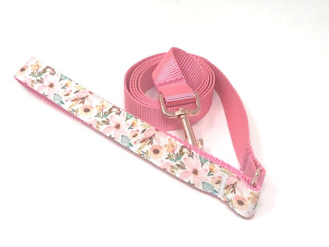 pink, floral, dog leash, rose gold, for girls, female, peony, big pup pet fashion, decorative handle, fashion, stylish, cute, pretty, lead