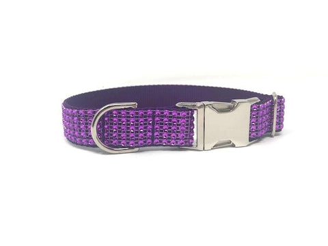 purple Dog Collar, Cat Collar, Lilac, Rhinestone, Personalized, Girls, Female, Small Dog, Medium Dog, Large Dog, Pretty, Fancy, Bling, Sparkly