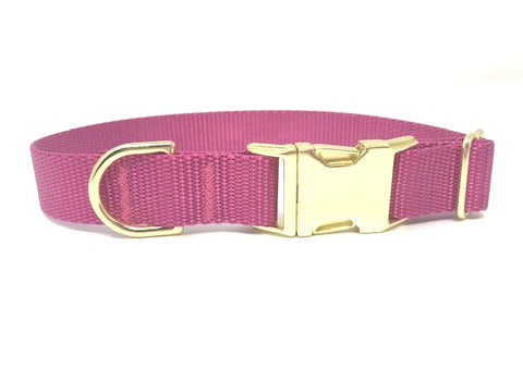 raspberry, pink, gold, dog collar, girls, female, personalized, engraved