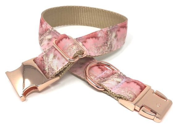 rose gold, pink, gold, marble, dog collar, girls, female, personalized, engraved, cat, pet, small, medium, large, extra large