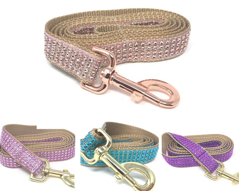 dog leash, rhinestone, glitter, sparkle, bling, girls, boys, rose gold, pink, teal, purple, fancy