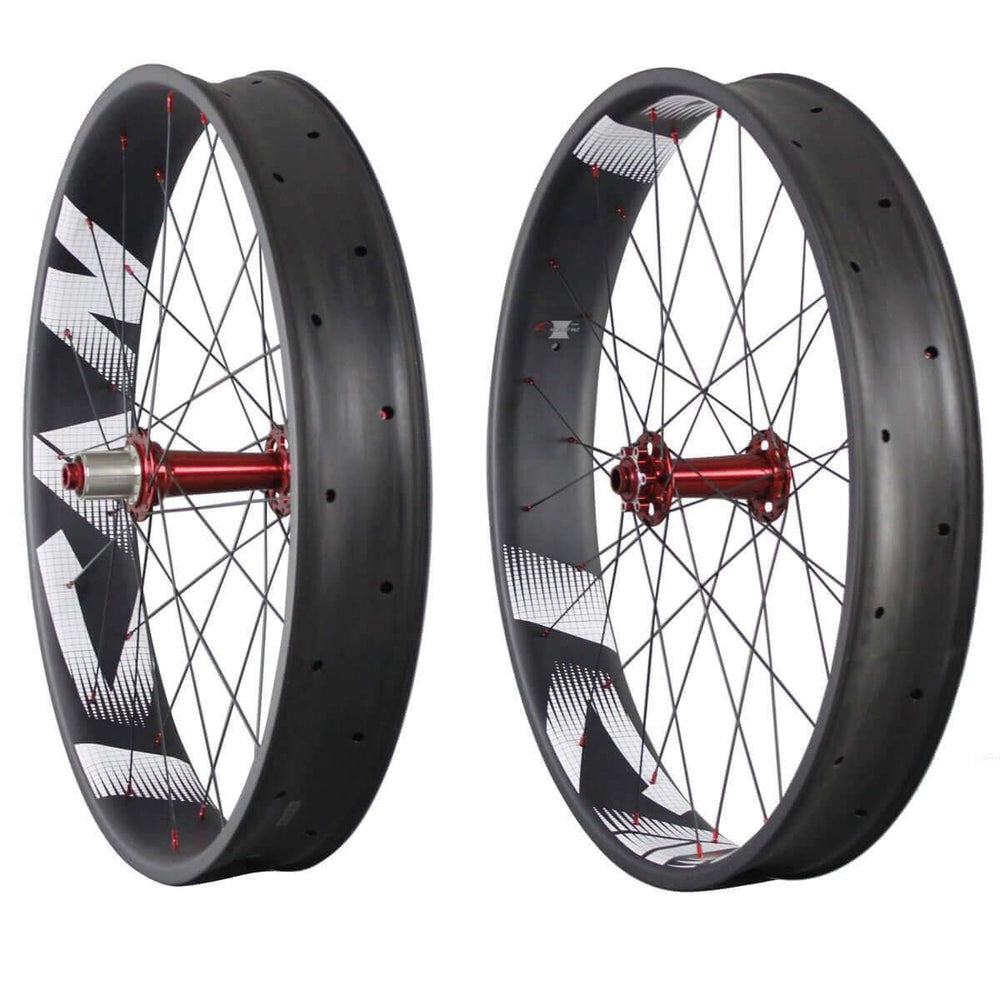 26er Carbon 90mm Fat bike Wheelset 90C