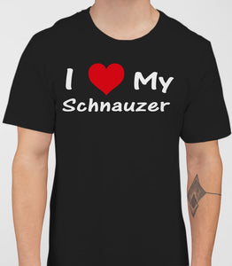 I Love My ILoveMySchnauzer Mens T-Shirt - Black