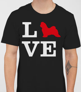 Love Maltese Dog Silhouette Mens T-Shirt - Black
