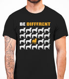 Be Different Pug Dog  Mens T-Shirt - Black