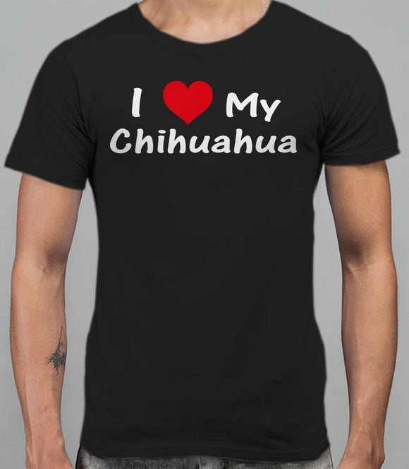 I Love My Chihuahua Mens T-Shirt - Black