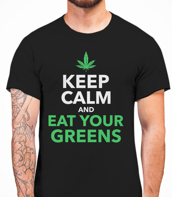 Keep Calm And Eat Your Greens - T-Shirt - Black