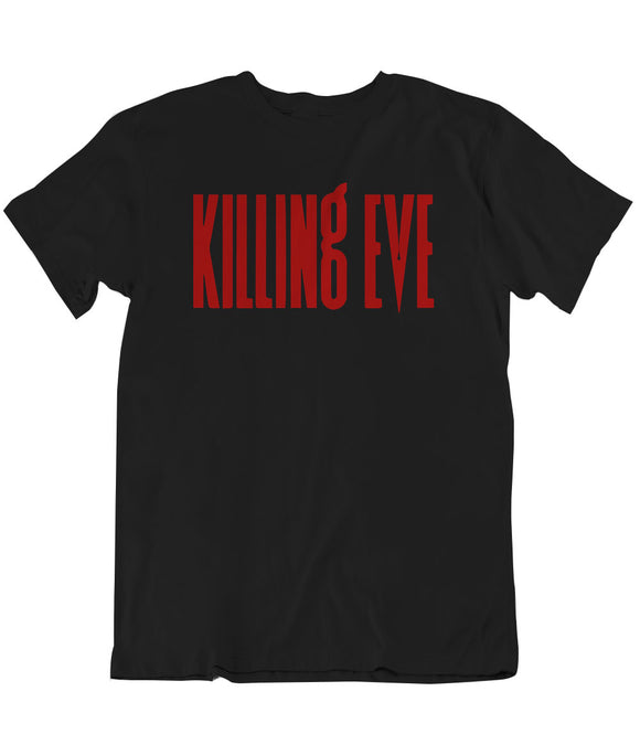Killing Eve Title UniSex T-Shirt - Black