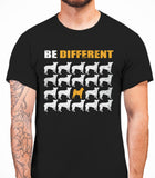 Be Different Shiba Inu Dog  Mens T-Shirt - Black