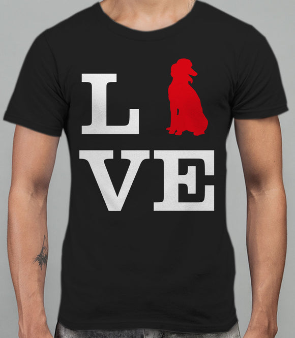 Love Poodle Dog Silhouette Mens T-Shirt - Black