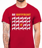 Be Different Boston Terrier Dog  Mens T-Shirt - Cardinal Red