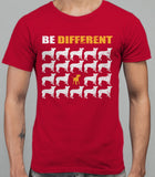 Be Different Bull Terrier Dog  Mens T-Shirt - Cardinal Red