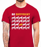 Be Different Collie Dog  Mens T-Shirt - Cardinal Red