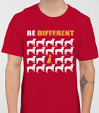 Be Different Doberman Dog  Mens T-Shirt - Cardinal Red