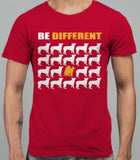 Be Different Akita Dog  Mens T-Shirt - Cardinal Red
