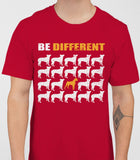 Be Different Boxer Dog  Mens T-Shirt - Cardinal Red