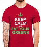 Keep Calm And Eat Your Greens - T-Shirt - Cardinal Red