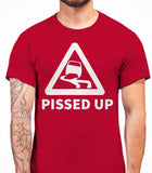 Pissed Up Mens T-Shirt - Cardinal Red