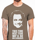 Delboy This Time Next Year We'll be MillionairesOnly Fools And Horses - Mens T-Shirt - Charcoal