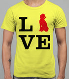 Love Poodle Dog Silhouette Mens T-Shirt - Daisy