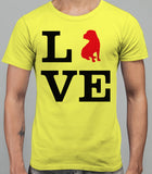 Love Shar Pei Dog Silhouette Mens T-Shirt - Daisy