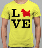 Love Westie Dog Silhouette Mens T-Shirt - Daisy