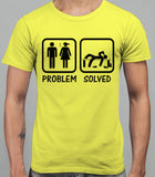 Problem Solved Mens T-Shirt - Daisy