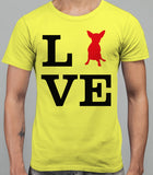 Love Chihuahua Dog Silhouette Mens T-Shirt - Daisy