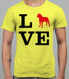 Love Dogue De Bourdeau Dog Silhouette Mens T-Shirt - Daisy