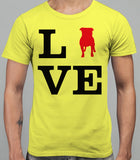 Love Staffordshire Bull Terrier Dog Mens T-Shirt - Daisy