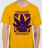 Legalize Happiness - T-Shirt - Gold