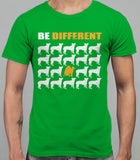 Be Different Akita Dog  Mens T-Shirt - Irish Green