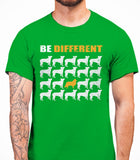 Be Different Collie Dog  Mens T-Shirt - Irish Green