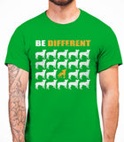 Be Different Chinese Crested Dog  Mens T-Shirt - Irish Green