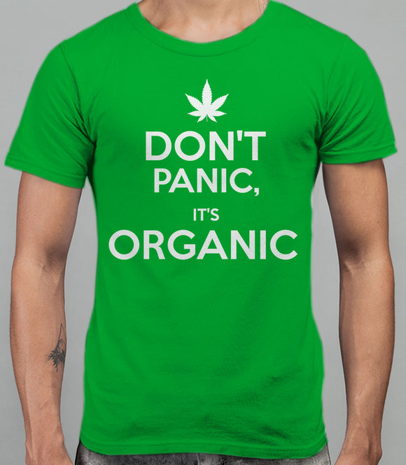 Don't Panic, It's Organic - T-Shirt - Irish Green