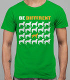 Be Different Border Collie Dog  Mens T-Shirt - Irish Green