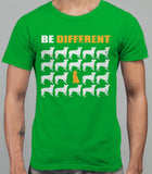 Be Different Poodle Dog  Mens T-Shirt - Irish Green