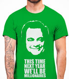 Delboy This Time Next Year We'll be MillionairesOnly Fools And Horses - Mens T-Shirt - Irish Green