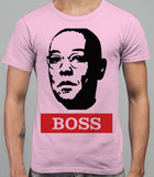 Guss Fringe The Boss - Breaking Bad Mens T-Shirt - Light Pink
