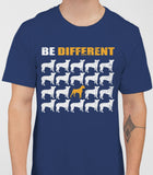 Be Different Boxer Dog  Mens T-Shirt - Metro Blue