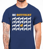 Be Different Pug Dog  Mens T-Shirt - Metro Blue