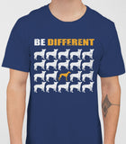 Be Different Greyhound Dog  Mens T-Shirt - Metro Blue