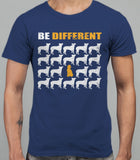 Be Different Poodle Dog  Mens T-Shirt - Metro Blue