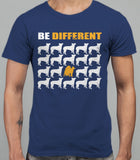 Be Different Akita Dog  Mens T-Shirt - Metro Blue