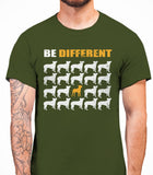 Be Different Boston Terrier Dog  Mens T-Shirt - Military Green