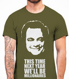 Delboy This Time Next Year We'll be MillionairesOnly Fools And Horses - Mens T-Shirt - Olive